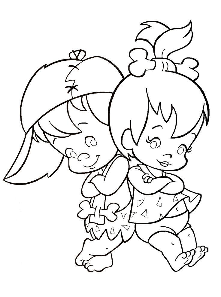 Flintstones coloring book page