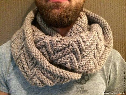 Tuto tricotin : le snood tressé / Loom knit a big snood - YouTube