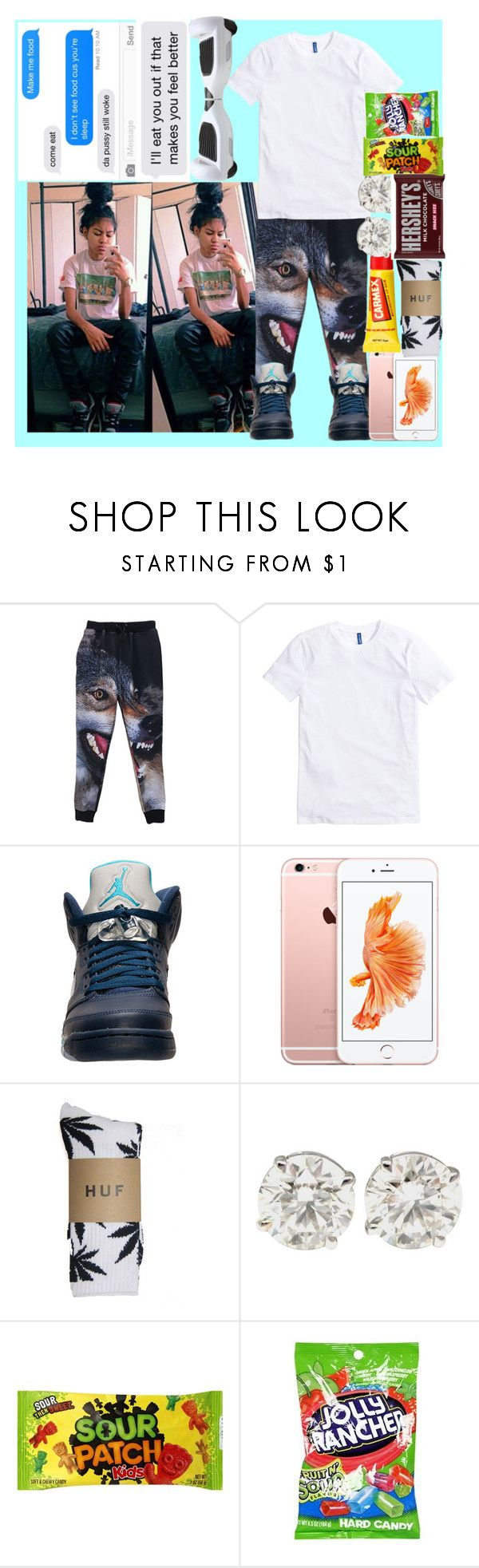 """""""I Need A Gf -Pouts- (Jasmine)"""" by bigdaddykeke ❤ liked on Polyvore featuring Retrò, HUF, Carmex, Hershey's and Hard Candy"""
