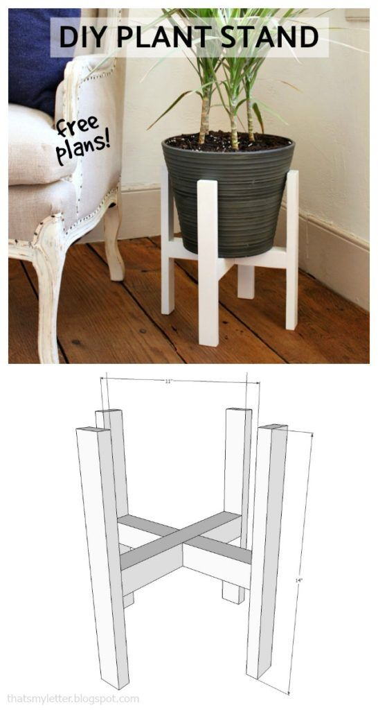 How to make a diy plant stand - free plans
