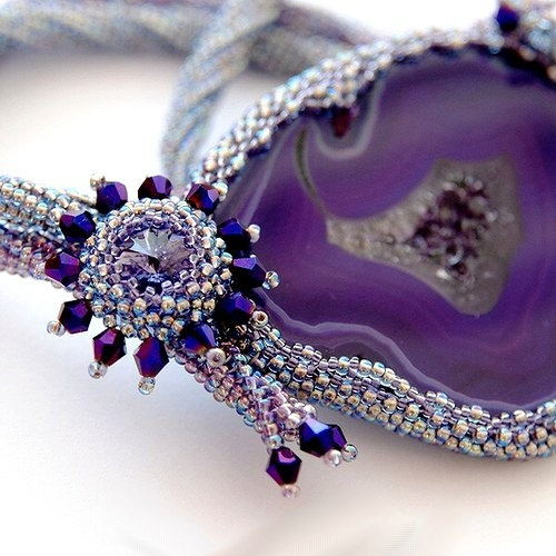 Necklace Violet  Eye agate by wandadesign on Etsy, €125.00