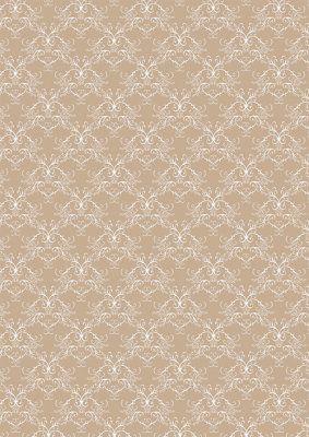 Papper A4 Basic Vintage Beige Swirls