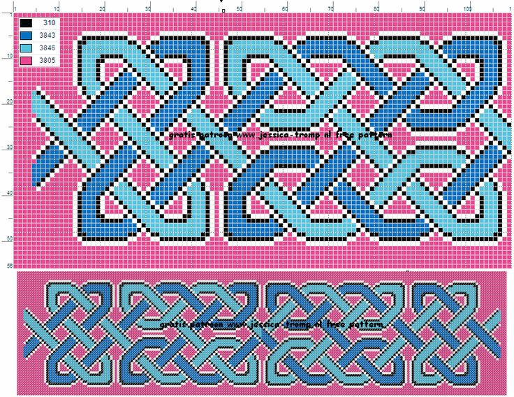 borduren keltische knopen borduurpatronen celtic knots cross stitch designs