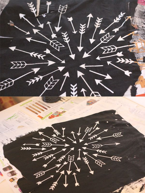 step by step screen printing on fabric