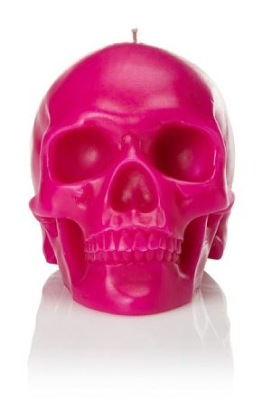 skull  candle: Graphic Design, Skull Obsession, Skulls Home Decor, Hot Pink Candles, Halloween Interior Design, Decorating With Skulls, Pink Skulls, Skull Candles