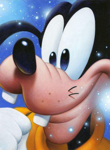 Smile: Goofy - by Tsuneo Sandagiclee on canvas