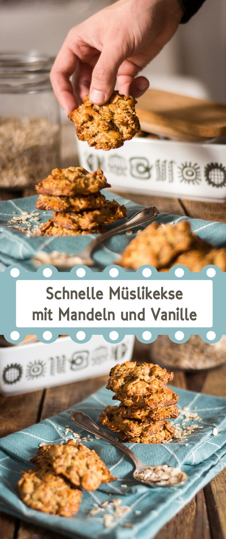 Easy peasy cereal cookies with almonds and cinnamon /// Schnelle Müslikekse mit Madeln, Zimt und Vanille