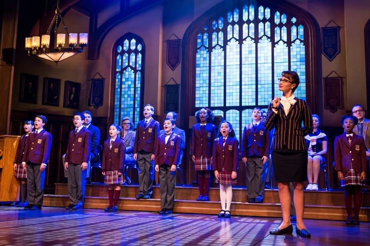 School of Rock  'SCHOOL OF ROCK': The children's ensemble & Sierra Boggess. Photo: Matthew Murphy