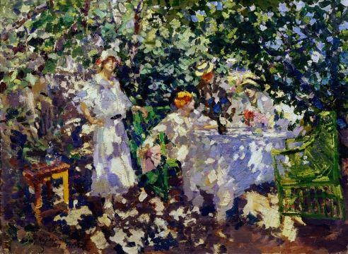Коровин Константин Алексеевич  В саду. Гурзуф 1914, Холст, масло