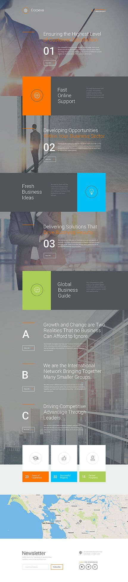 Template 58222 - Corpexa Business  Responsive Landing Page Template