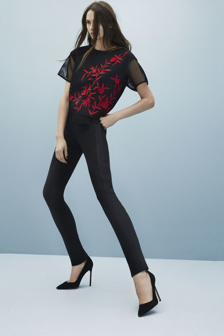 Sachin & Babi top to match any black or red pant in your closet...make a statement and be unique!