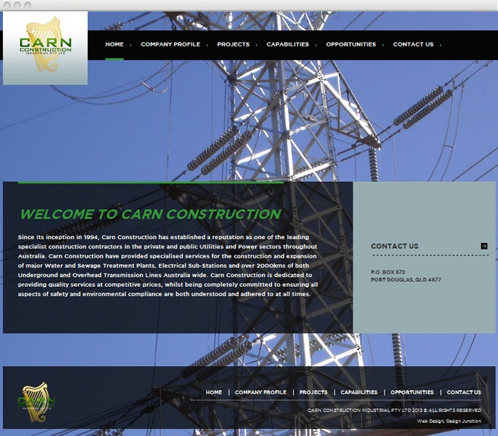 Website Design for Construction Company in Melbourne
