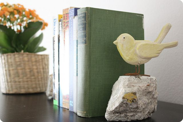 DIY Bookends by Feathers, via Flickr