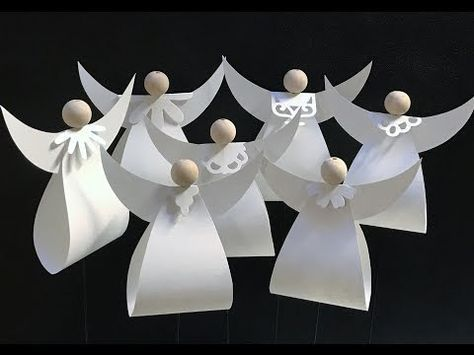 DIY Paper Angel #tutorial #template https://www.facebook.com/KreativGammelbro/photos/a.1052639324750199.1073741826.834802273200573/1450893281591466/?type=3&theater