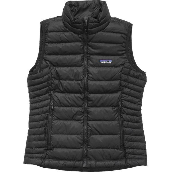 Patagonia Down Sweater Vest ($179) ❤ liked on Polyvore featuring outerwear, vests, slim fit vest, slim vest, holiday vest, lightweight vest and travel vest