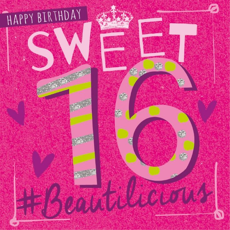 50 Best Bday 16 Images On Pinterest Congratulations Card Happy Birthday Wishes Sweet 16