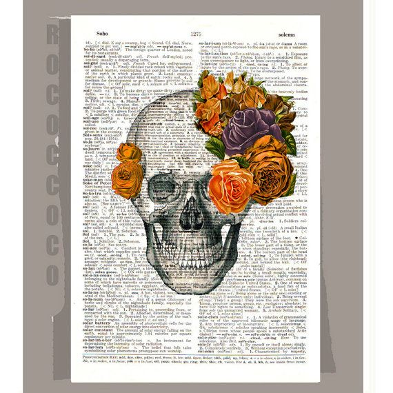Vintage Skull with Roses - done something like this before... may do it again :)