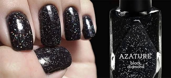 Most expensive nail polish in the world with black diamonds