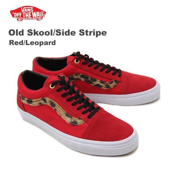 Vans Old Skool (Side Stripe) Red Leopard