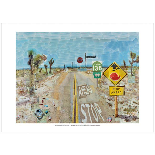 David Hockney Pearblossom Highway (Poster)