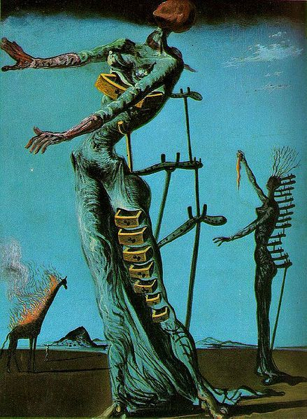Salvador Dalí - Az égő zsiráf. The Burning Giraffe (1937)