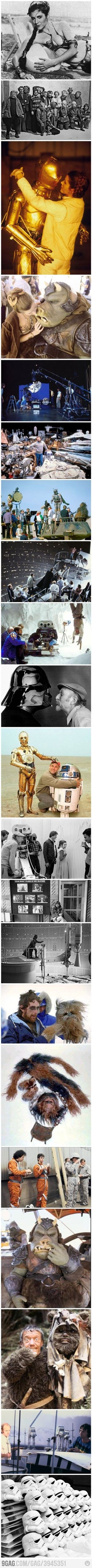 Rare Star Wars behind the Scenes pictures