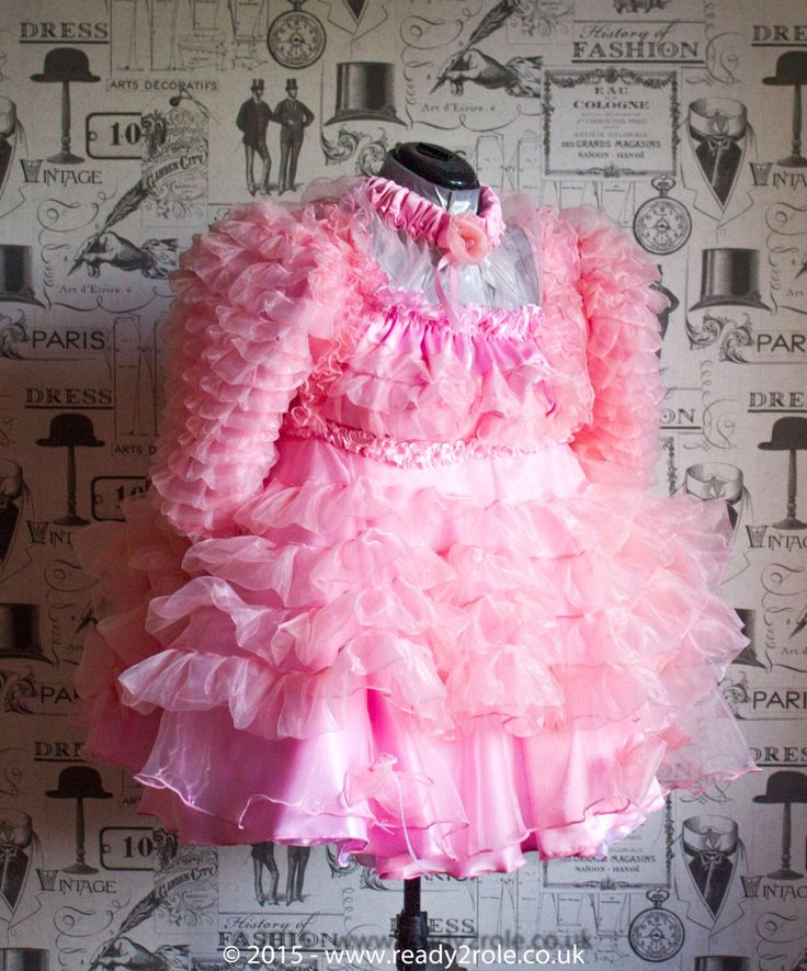 """The """"Krystal"""" Sissy Prissy Frilly Dress - Hand Crafted to order - Ask About Colour Options by ready2role on Etsy https://www.etsy.com/listing/241751035/the-krystal-sissy-prissy-frilly-dress"""
