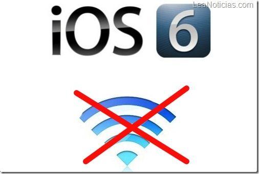 iOS 6 continúa con problemas de conexión WiFi - http://www.leanoticias.com/2012/11/05/ios-6-continua-con-problemas-de-conexion-wifi/