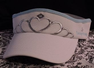 RUNNING PRINCESS TIARA VISOR WHITE/CINDERELLA BLUE
