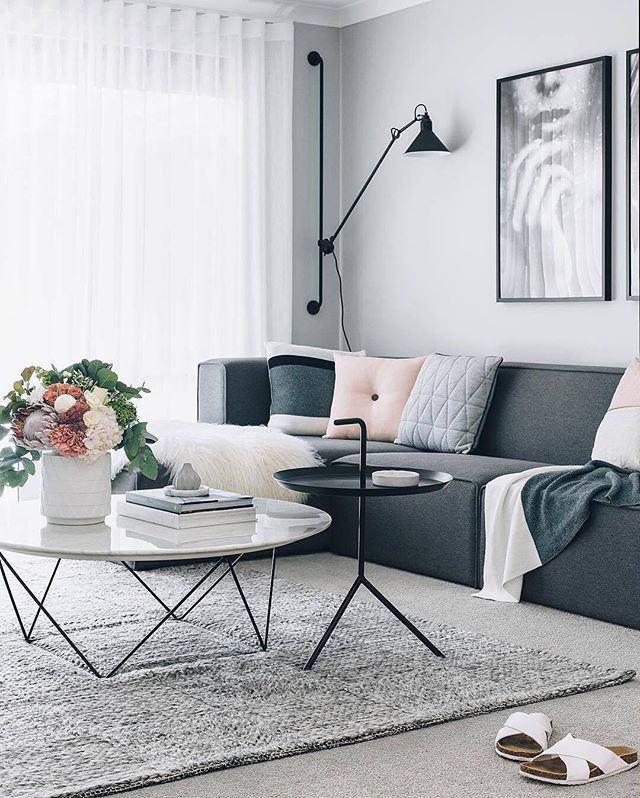 GlobeWest Como Marble Coffee Table. Image: @oh.eight.oh.nine. Living Room  ...