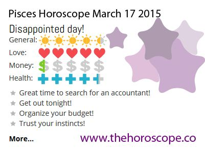 Disappointed day for #Pisces on March 17th 2015 #horoscope ... http://www.thehoroscope.co/horoscope/Pisces-Horoscope-today-March-17-2015-2628.html