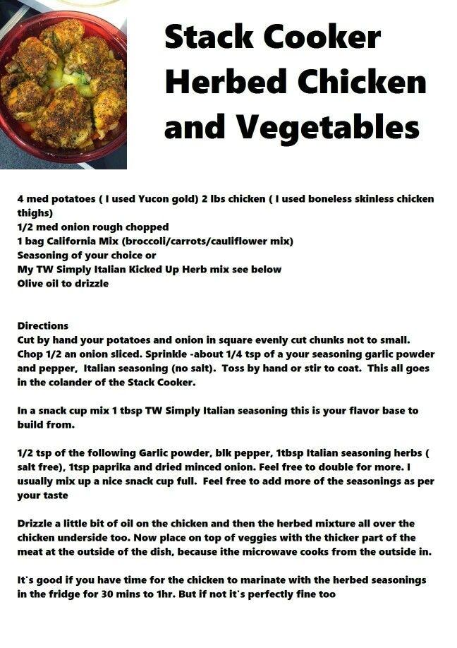 Chicken in your stack cooker! DanaW.My.Tupperware.com