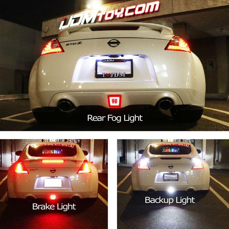 Hot damn - Nissan 370Z LED rear fog light! Reverse light, taillight, brake light in one assembly.  http://store.ijdmtoy.com/Nissan-370Z-LED-Rear-Fog-Light-4th-Brake-Lamp-p/72-002.htm  #iJDMTOY # JDM #Nissan #370Z #carlights #carparts #reverselight #brakelight #taillight #aftermarket #eatsleepJDM #LED