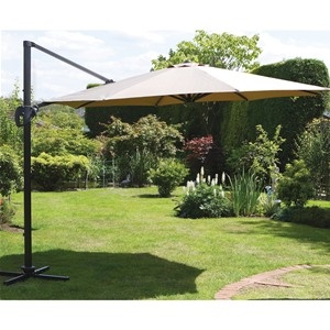 Deluxe 3.5m Cantilever Parasol With Coffee Canopy