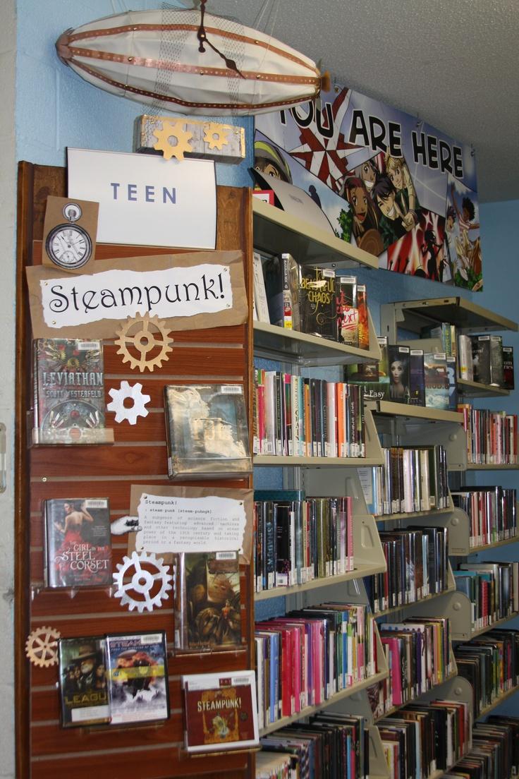 Steampunk Book Display