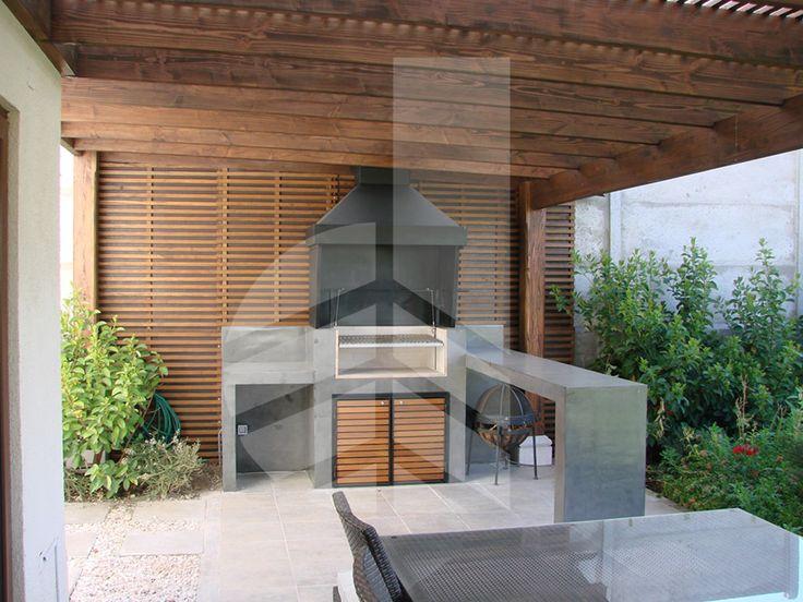 Comercialdominguez proyecto quincho microcemento casa for Casa rodante para parrilla