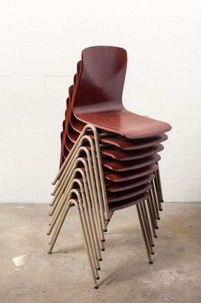 FRITS HANSEN STYLE SINGLE SHELL INDUSTRIAL CHAIRS