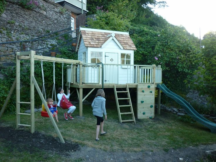 The Otter Cottage playhouse climbing frame takes one of our most popular children's cottages and uses it as the centre piece of a stunning garden activity centre. As with all our playhouse climbing frames, this Playcentre can be configured in many different ways to ensure that the installed product is just right for you. The