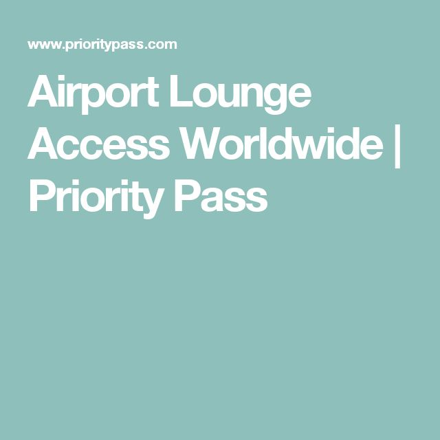 Airport Lounge Access Worldwide | Priority Pass