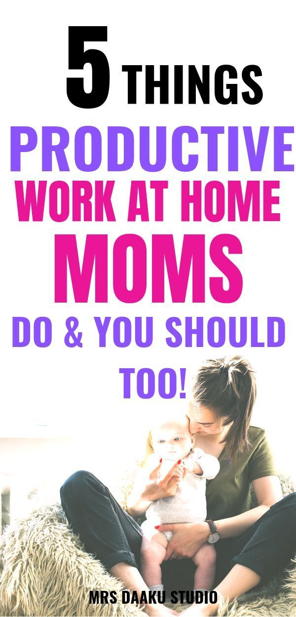 5 EASY productivity hacks for work at home moms