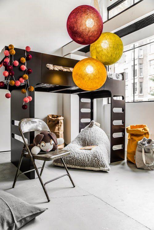dormitorios infantiles guirnaldas luces Guirnaldas de luces... Ideas para colocarlas
