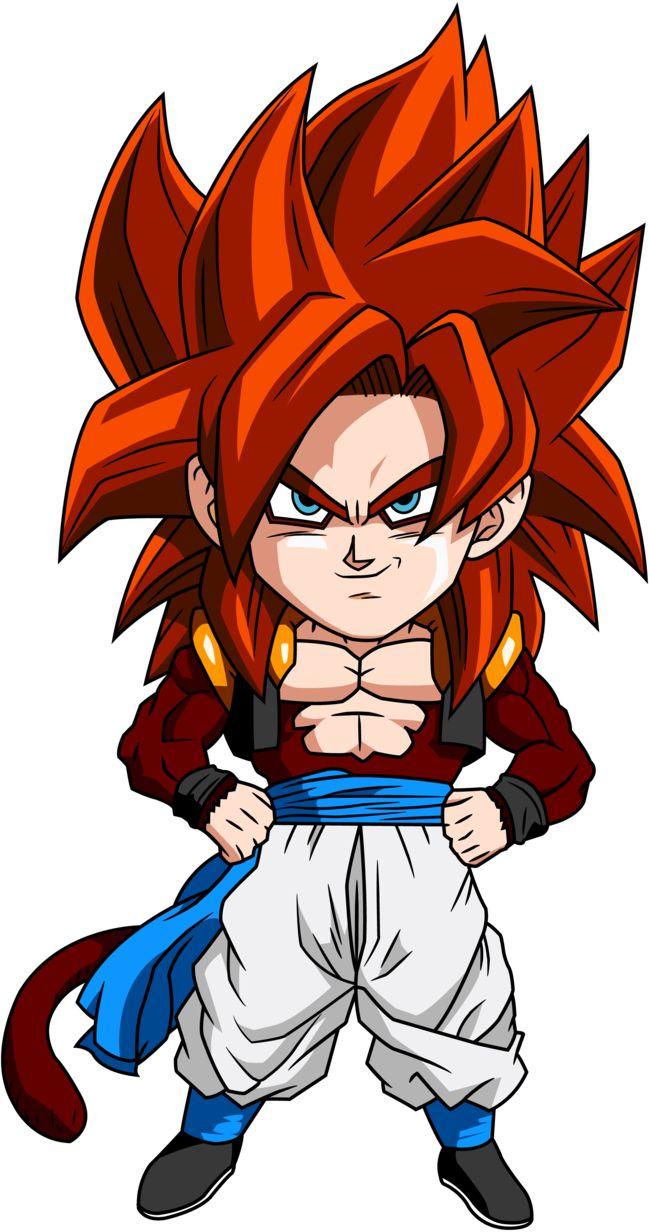 Personajes Chibi de Dragon Ball- Gogeta SSJ4