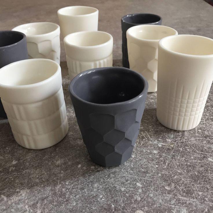 Tasses espresso. Porcelaine. Brigitte Morel