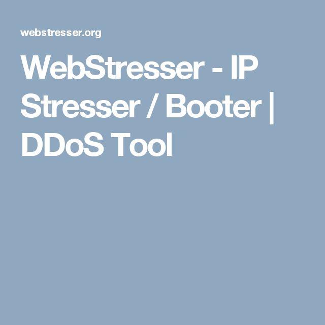 WebStresser - IP Stresser / Booter | DDoS Tool