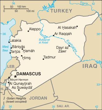 Country Maps: Syria Map