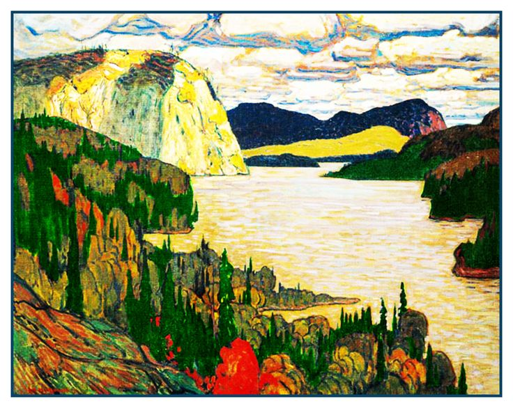 James MacDonald's The Solemn Land River Ontario Canada Landscape Counted Cross Stitch or Counted Needlepoint Pattern