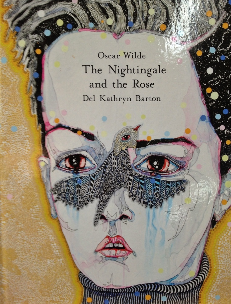 Del Kathryn Barton's book in The Art Shop Mona Vale. Her luscious detailed images illustrate Oscar Wilde's classic story, a gorgeous book.