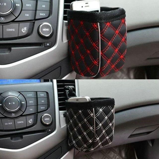 Mobile Phone Bag Multi-functional Auto Supplies Bag Car Storage Pockets (Color: Black)