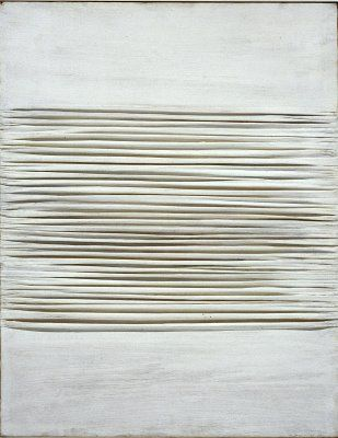 Piero Manzoni ~ Achrome, 1959 (china clay on canvas)