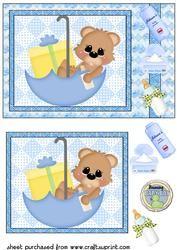 De leuke Jongen van de Baby draagt Kaart Front 3